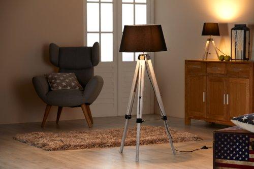 Lampada da terra EDWIN Ø46xH142cm nero