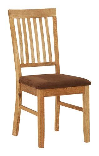 Cadeira jantar HAGE castanho/cinzento