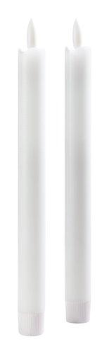 Vela castiçal CALLE A25cm c/LED 2uds/emb