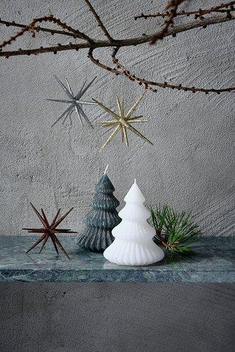 Candle ALMANDIN D9xH12cm tree ass.