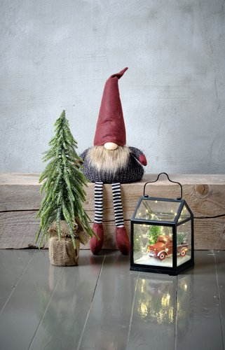 Christmas elf NORNOR H60cm sitting