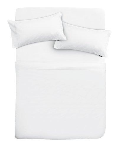 Funda almohada percal 2uds 45x95 blanco