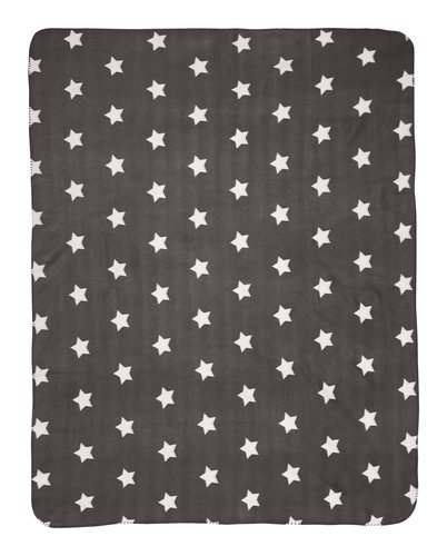 Manta JANNE forro 130x170 gris oscuro