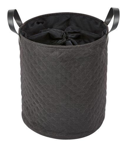 Wäschekorb SOFIA Ø42xH50cm dunkelgrau