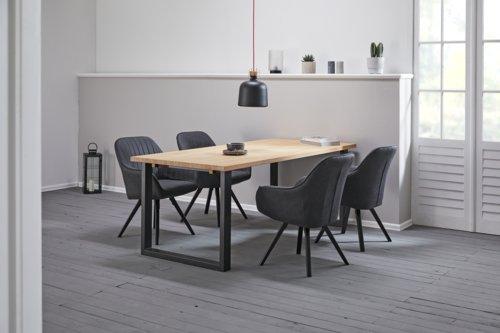 Cadeira jantar LANGERHUSE antrac./preto