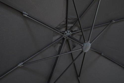 Ombrellone laterale SHADOW Ø350 grigio