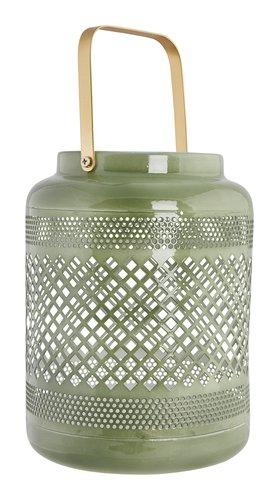 Lanterna KARLSON Ø15xH20cm verde