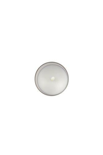 Laterne KLAUS m/LED Kerzenlicht grau