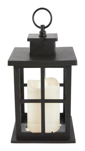 Laterne KNUD B14xL14xH24cm schwarz m/LED