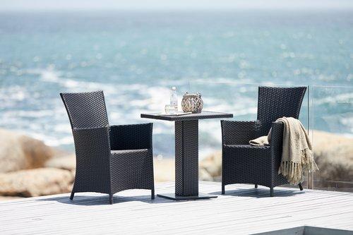 Table de bistro THY l60xL60 noir