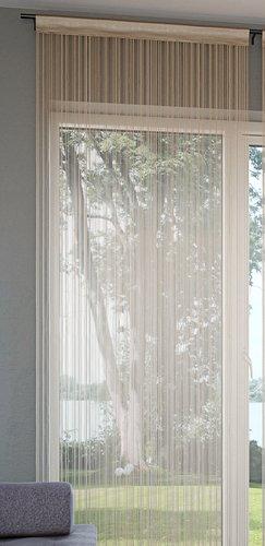 Nitková záclona NISSER 90x300 béžová