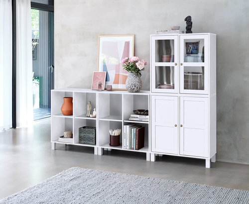 Display Cabinet SKALS 2 door white