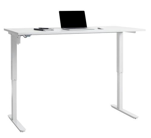Höj-/sänk skrivbord SLANGERUP 80x160 vit