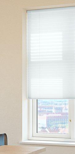 Plisségardin HOVDEN 90x210 hvit
