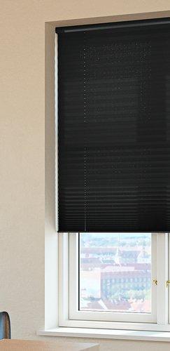 Plisségardin HOVDEN 140x160cm sort