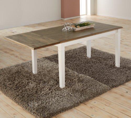 Mesa comedor WIEN 85x180 blanco/marrón