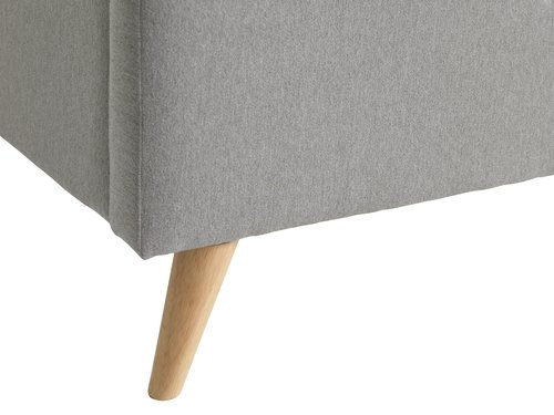 Estrutura de cama EGEDAL 180x200 cinza
