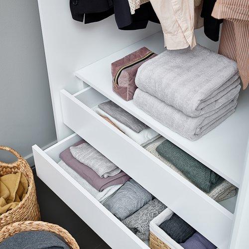 Handdoek TORSBY 50x90 licht grijs