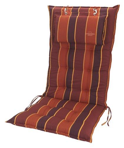 Cojín silla reclinable SEVILLA rojo