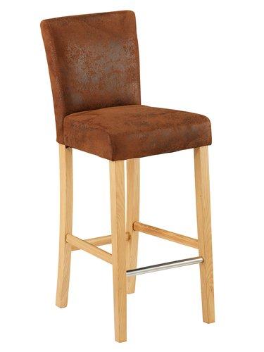 Cadeira bar TOM castanho claro vintage