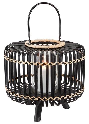 Lanterne ENTITA Ø38xH32 bambou noir