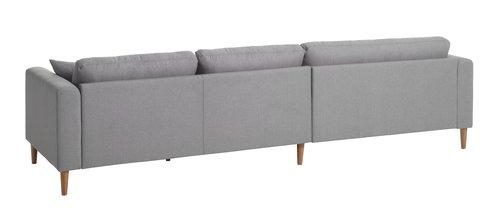 Καναπές με σεζλόνγκ KANNIKHUS ανοιχτό γκ
