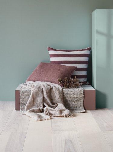 Tæppe KEJSERKRONE læder 65x120 grå