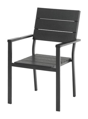 Садовый стул FALKERSLEV черный