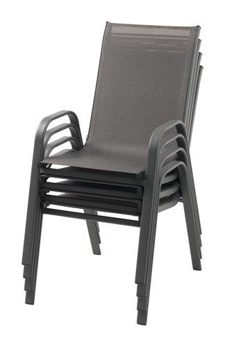 Cadeira empilhável MEXICO cinzento