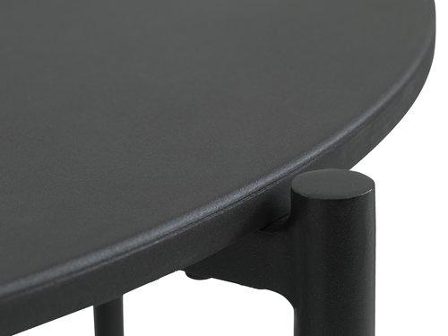Loungeset SARPSBORG 6-persoons zwart