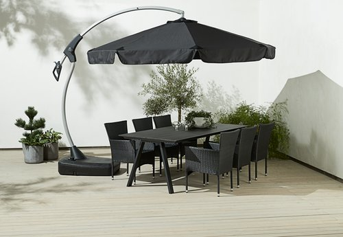 Závesný slnečník HAUGESUND Ø300 čierna