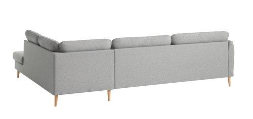 Sofa AARHUS open-end højre varm grå