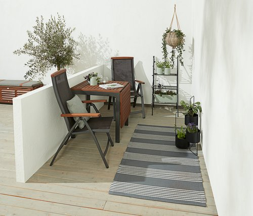 Stôl YTTRUP Š70xD75/126 tvrdé drevo