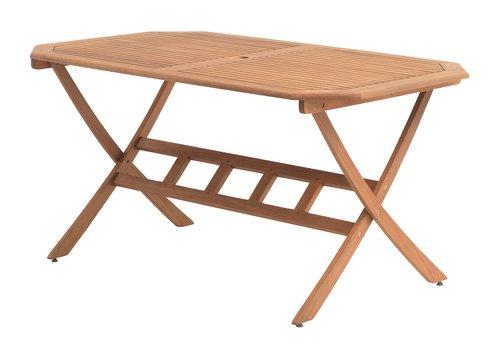 Mesa SANTA FE L85xC150 madeira dura