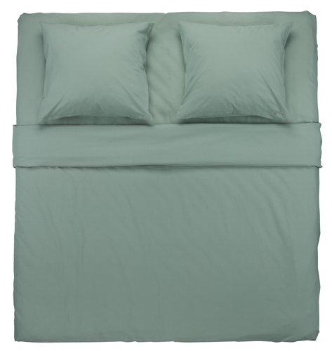 Conjunto lençóis ELLEN 240x280 verde