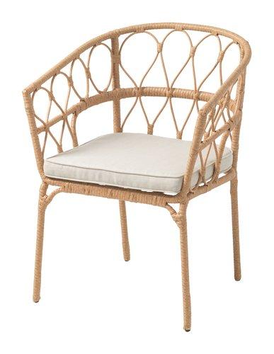 Καρέκλα στοιβαζ. JENNUM φυσικό