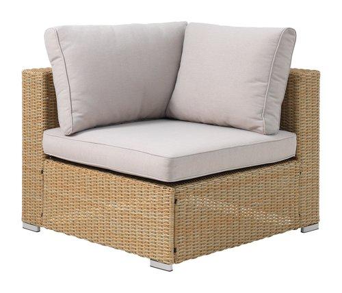 Lounge DALL hörnmodul natur