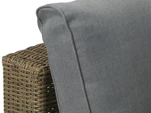Lounge DALL chaisemodul grå