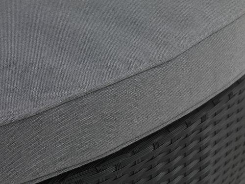Canapea terasă FINNSNES 4 pers. neagră
