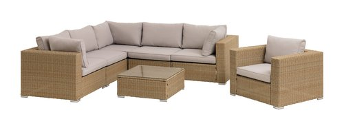 Loungeset DALL 6-persoons naturel