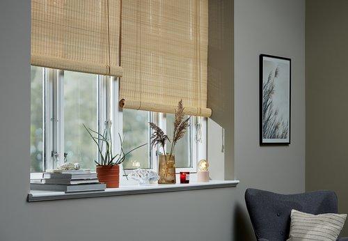 Rolgordijn bamboe BYRE 140x160 naturel