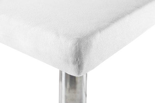Jersey-Leintuch 60/70x120/140x15 weiß