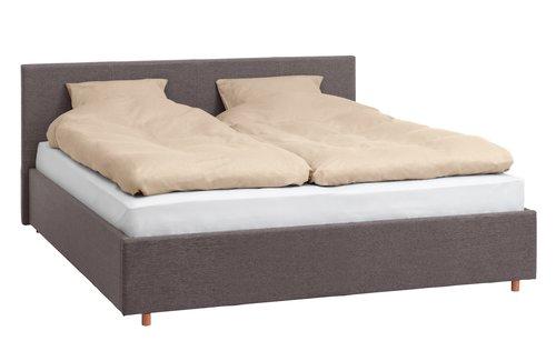 Rama łóżka EGERSUND 140x200 c-szary