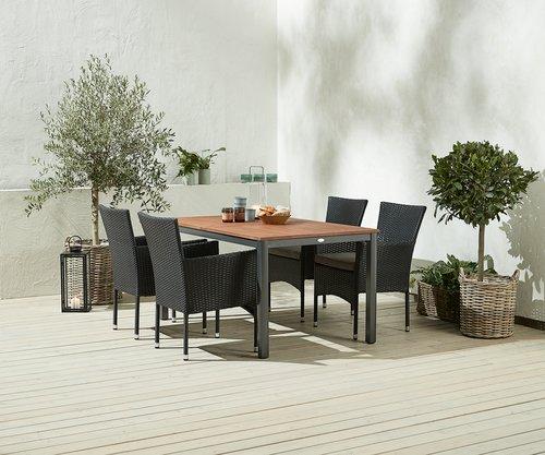 YTTRUP L150 hout+4 AIDT zwart