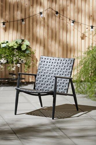 Lounge stolica EDDERUP crna