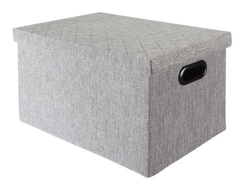 Contenitore ALINA P27xL37xH22cm grigio