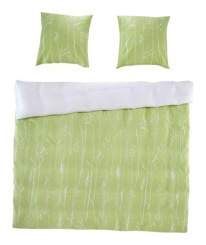 Completo lenzuola NORDIC Raso KING verde
