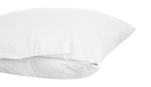 Funda almohada satén 45x110 2 uds blanco