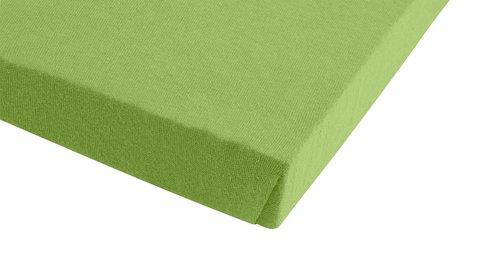 Jersey-Spannleintuch180x200x30 grün