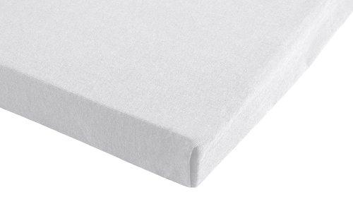 Jersey-Spannleintuch 100x200x28 weiß